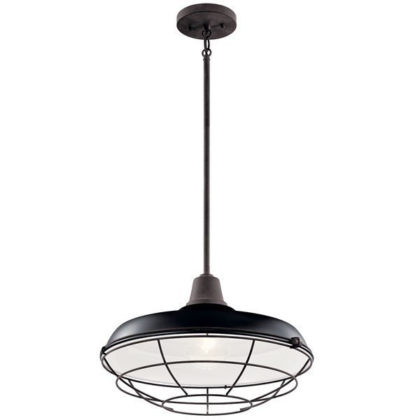 "Pier 1 Light 16"" Convertible Pendant Black"