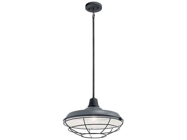 "Pier™ 1 Light 16"" Convertible Pendant Gloss Grey"