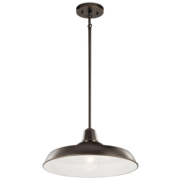 "Pier 1 Light 16"" Convertible Pendant Olde Bronze"