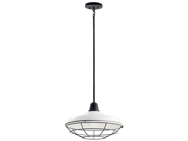 "Pier™ 1 Light 16"" Convertible Pendant White"