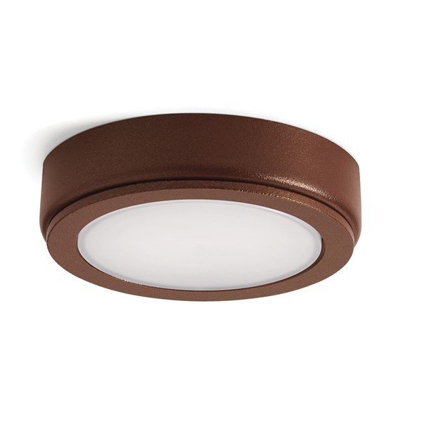 4D Series 12V 2700K LED Accent Disc Textured Bronze