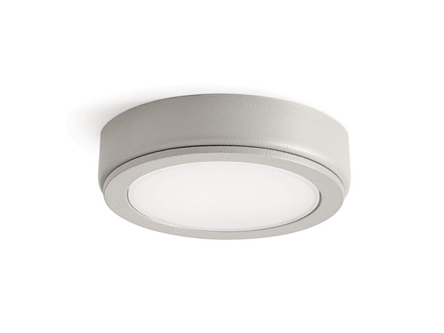 4D Series 12V 2700K LED Accent Disc Textured Nickel