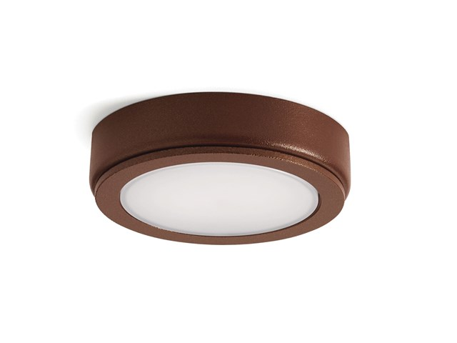 4D Series 12V 3000K LED Accent Disc Textured Bronze