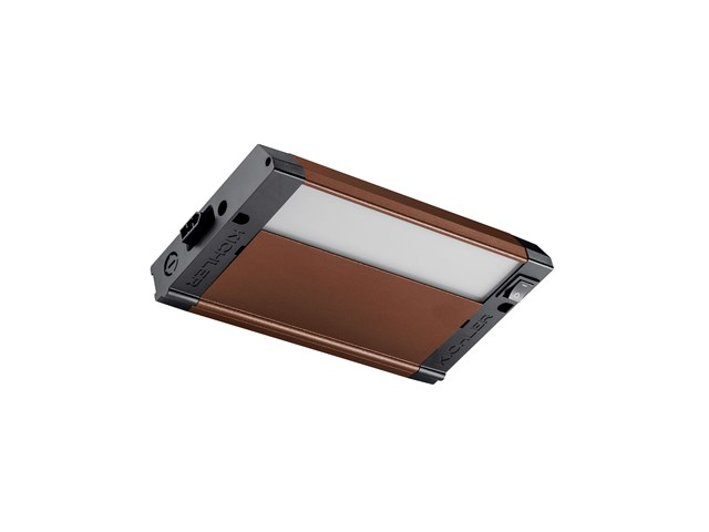 "4U 8"" 3000K LED Cabinet Light Textured Bronze"