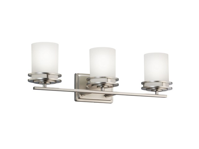 Hendrik 3 Light Vanity Light Brushed Nickel