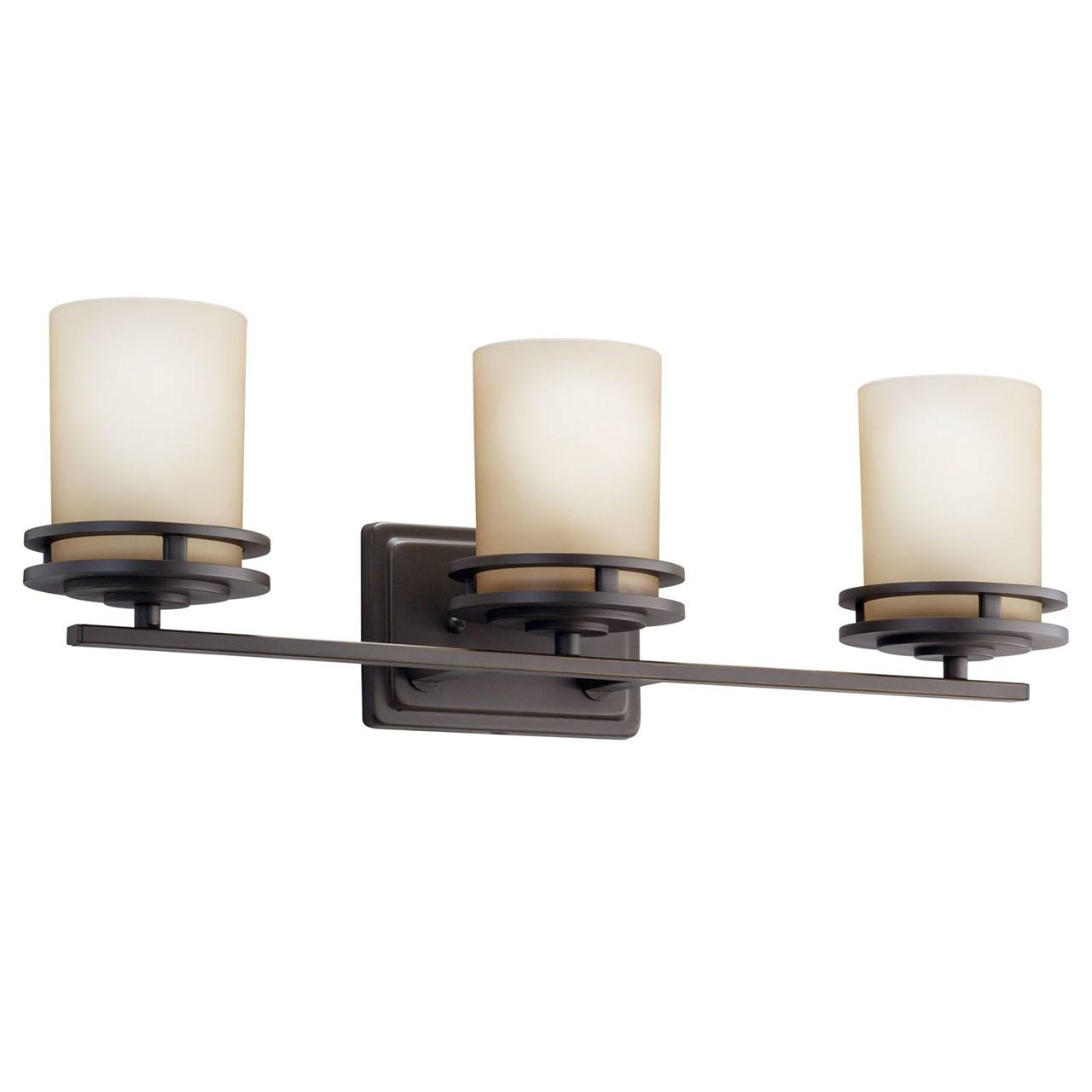 Hendrik 3 Light Vanity Olde Bronze Kichler Lighting