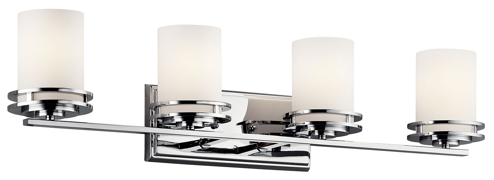 Project Source 6-Light-Bulbs Chrome Vanity Light Bar 36-in Wall Mounted Fixture