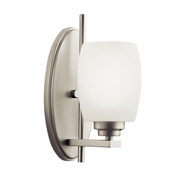 Eileen 1 Light Wall Sconce Brushed Nickel