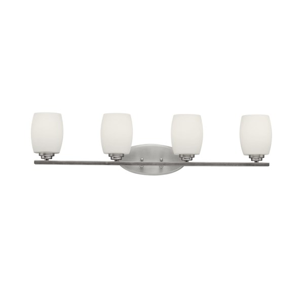 Eileen 4 light Vanity Light with LED Bulbs Brushed Nickel