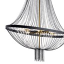 "Alexia 39.5"" 5 Light Foyer Chandelier with Crystal Beads Textured Black"
