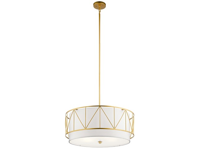 "Birkleigh™ 11.5"" 4 Light Pendant Classic with Satin Etched Glass Gold"