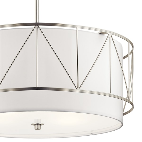 "Birkleigh™ 11.5"" 4 Light Pendant with Satin Etched Glass Satin Nickel"