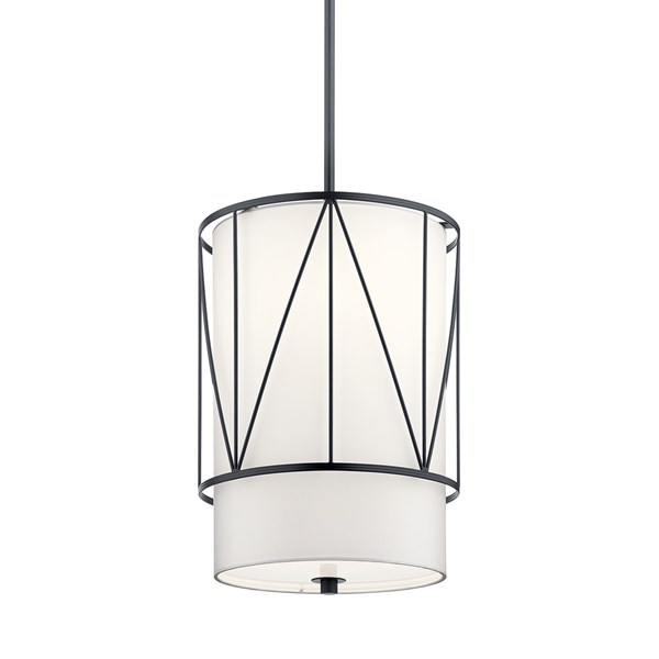 "Birkleigh™ 18.25"" 1 Light Pendant with Satin Etched Glass Black"