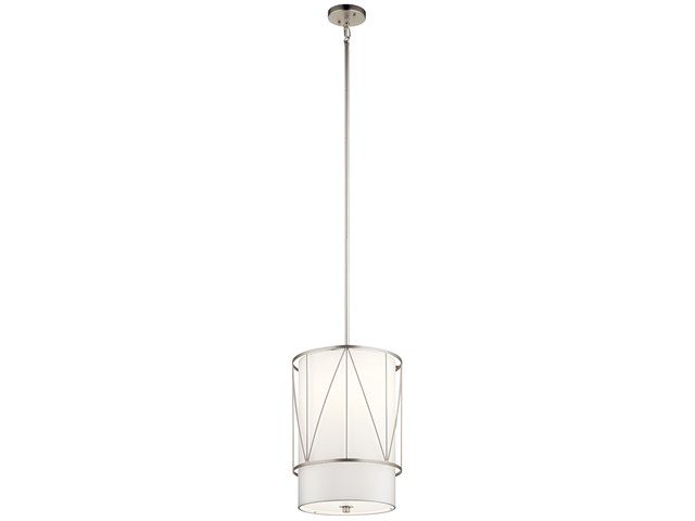 "Birkleigh™ 18.25"" 1 Light Pendant with Satin Etched Glass Satin Nickel"