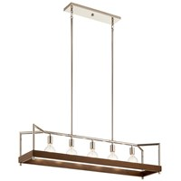 Tanis™ 5 Light Linear Chandelier Auburn Stained
