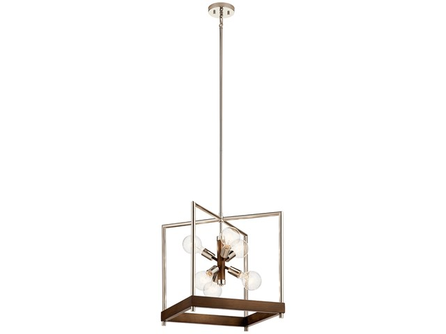 Tanis™ 6 Light Foyer Pendant Auburn Stained