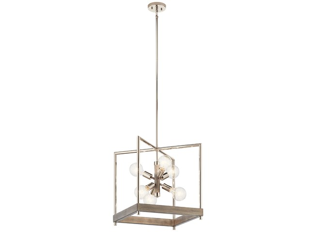 Tanis™ 6 Light Foyer Pendant Distressed Antique Gray
