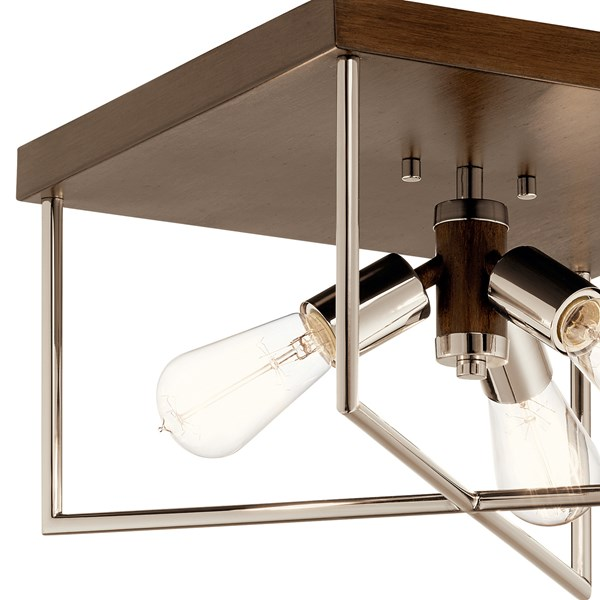 Tanis™ 3 Light Flush Mount Auburn Stained