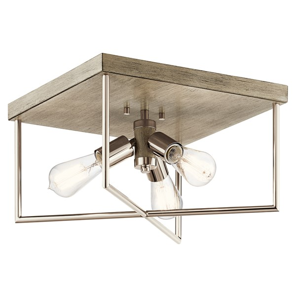 Tanis™ 3 Light Flush Mount Distressed Antique Gray