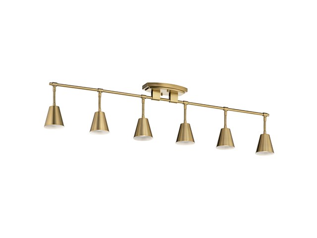 Sylvia™ 6 Light Rail Light Brushed Natural Brass
