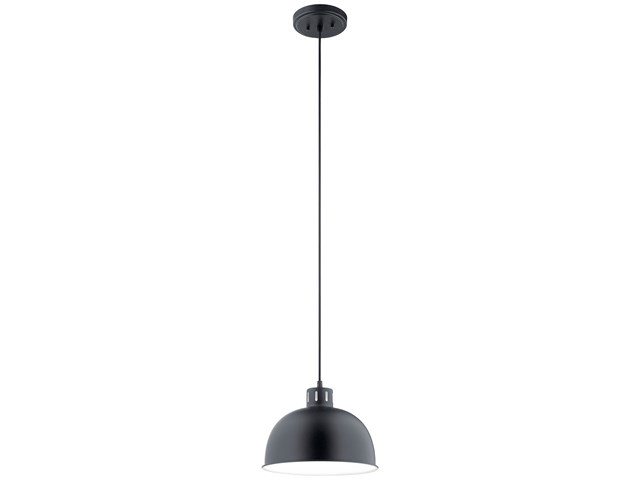 "Zailey™ 11.5"" 1 Light Pendant Black"