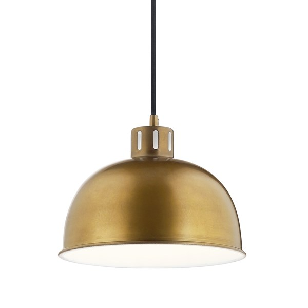 "Zailey™ 11.5"" 1 Light Pendant Natural Brass"