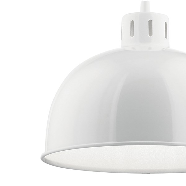 "Zailey™ 9"" 1 Light Pendant White"