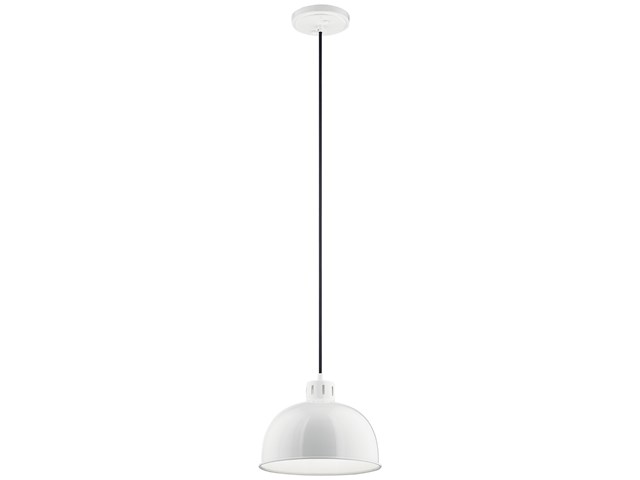 "Zailey™ 11.5"" 1 Light Pendant White"