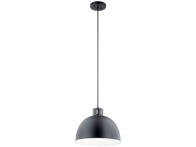 "Zailey™ 12.5"" 1 Light Pendant Black"