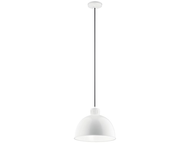 "Zailey™ 12.5"" 1 Light Pendant White"