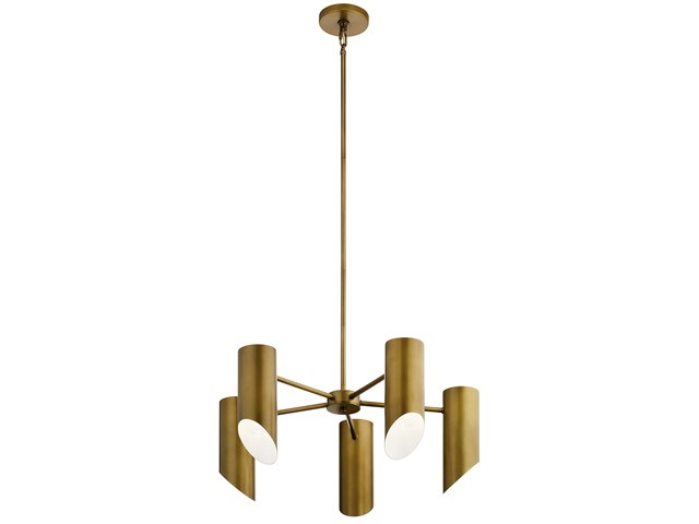 Trentino 5 Light Chandelier Natural Brass