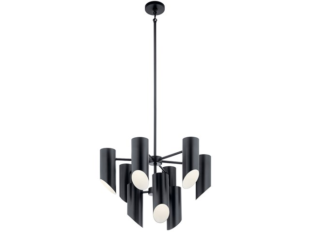 Trentino 9 Light Chandelier Black