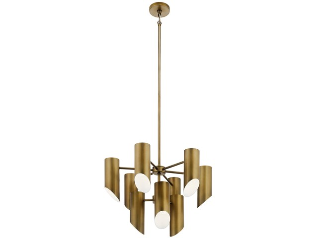 Trentino 9 Light Chandelier Natural Brass