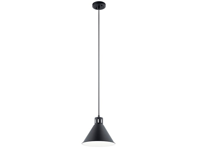 "Zailey™ 9.5"" 1 Light Pendant Black"