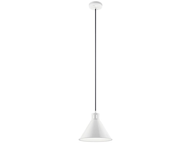 "Zailey™ 9.5"" 1 Light Pendant White"