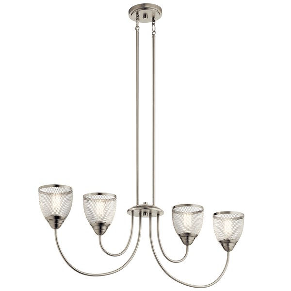 Voclain™ 4 Light Linear Chandelier Brushed Nickel