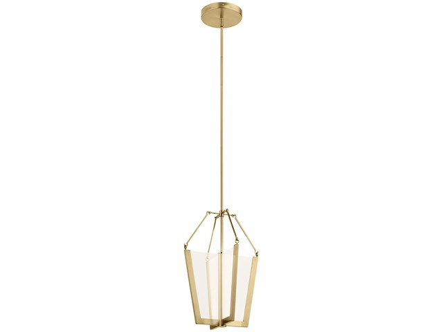 "Calters 19.75"" LED Pendant Champagne Gold"