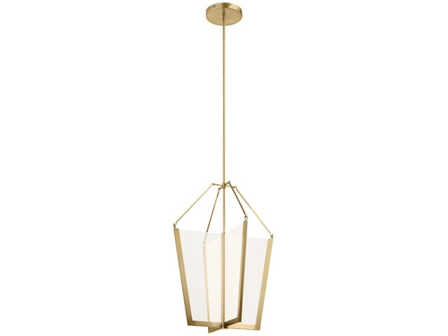 "Calters 28.5"" LED Foyer Pendant Champagne Gold"