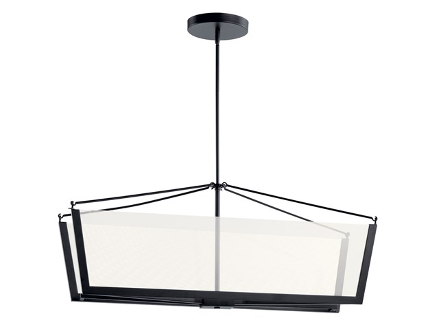 "Calters 38"" LED Linear Chandelier Black"