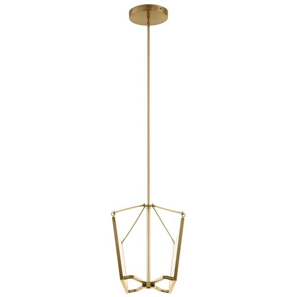 "Calters 38"" LED Linear Chandelier Champagne Gold"