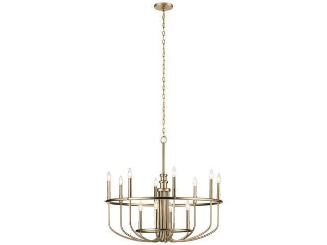 "Capitol Hill 30.75"" 12 Light Chandelier Classic Bronze"