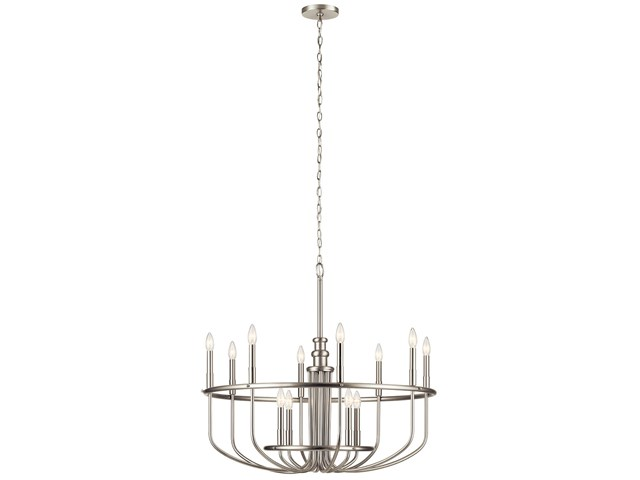 "Capitol Hill 30.75"" 12 Light Chandelier Brushed Nickel"