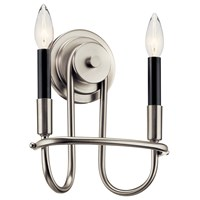"Capitol Hill 10.75"" 2 Light Wall Sconce Brushed Nickel"