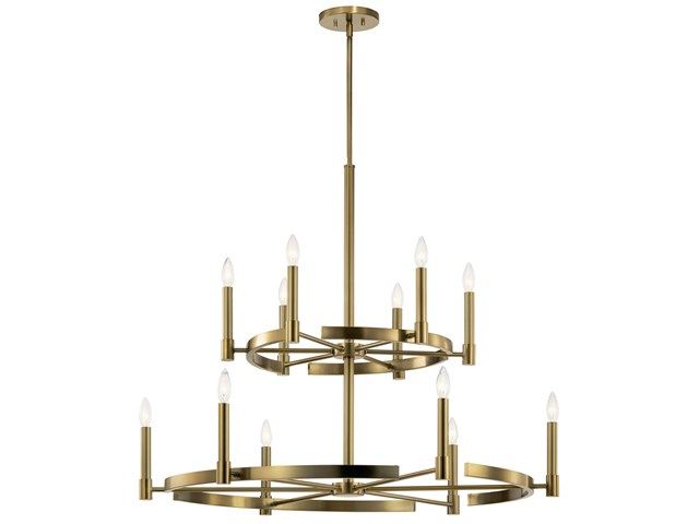 Tolani™  12 Light Chandelier Brushed Natural Brass