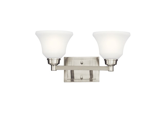 Langford™ 2 Light Vanity Light Brushed Nickel