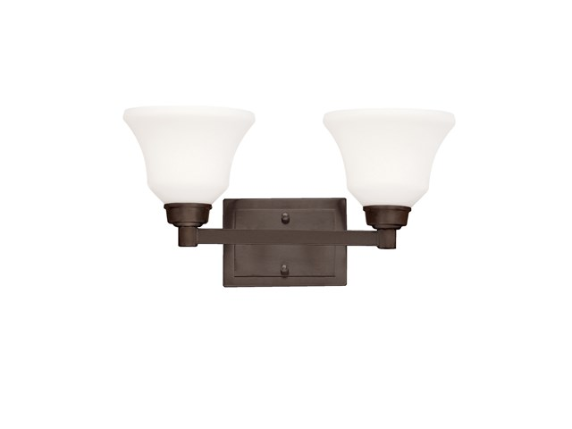 Langford™ 2 Light Vanity Light with LED Bulbs Olde Bronze®
