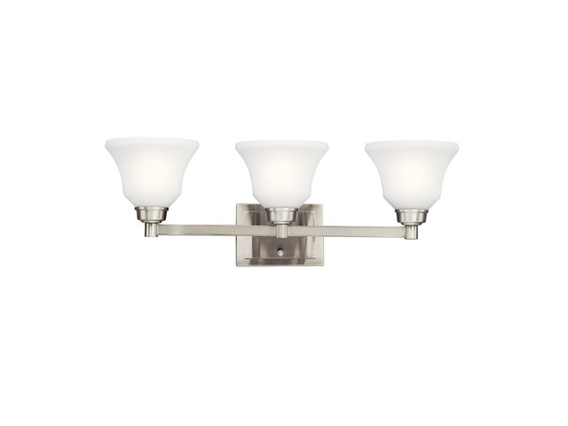 Langford™ 3 Light Vanity Light Brushed Nickel