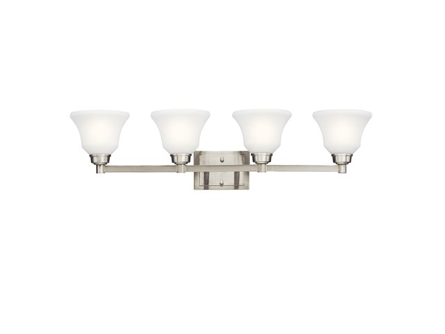 Langford™ 4 Light Vanity Light Brushed Nickel