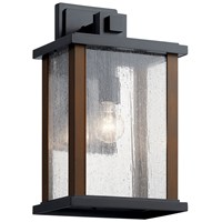 "Marimount™ 17"" 1 Light Outdoor Wall Light with Clear Glass Black"