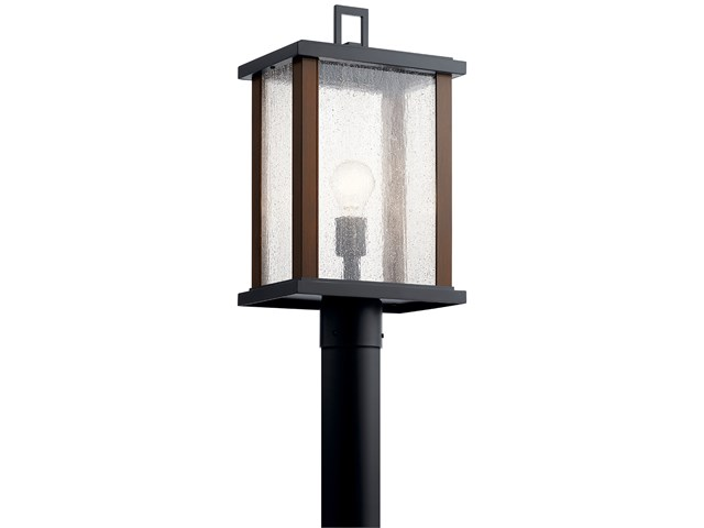 "Marimount™ 18.25"" 1 Light Outdoor Post Light with Clear Glass Black"